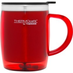 Thermos Stainless Steel Inner, Plastic Outer Desk Mug Red 450ml found on Bargain Bro Philippines from house.com.au for $9.42