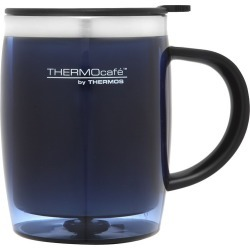 Thermos Stainless Steel Inner, Plastic Outer Desk Mug Blue 450ml found on Bargain Bro Philippines from house.com.au for $9.42