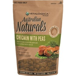 Vetalogica Australian Naturals Chicken with Peas Cat Treat 100g found on Bargain Bro India from house.com.au for $7.38