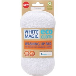 White Magic Eco Cloth Washing Up Scrubbing Pad Snow White