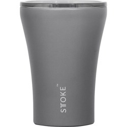 Sttoke Ceramic & Stainless Steel Reusable Coffee Cup 236ml (8oz) Slated Grey found on Bargain Bro Philippines from house.com.au for $33.78