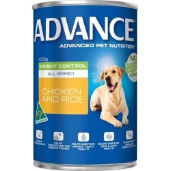 Advance Weight Control Adult Dog Food 12x450g