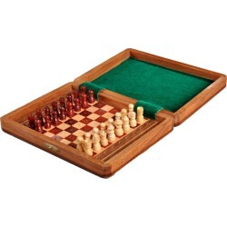 "PEG WOODEN Travel Chess Set - 8"" x 6"""