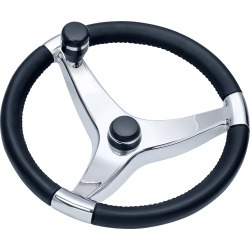 Ongaro Schmitt Evo Pro 316 Cast Stainless Steel Steering Wheel w/Control Knob - 13.5 Diameter found on Bargain Bro India from iboats for $205.95