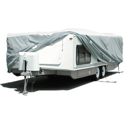 Adco Products Tyvek Tent Trlr Cover 16'1-18' - Pop Up/Hi-Lo Trailer Cover W/Tyvek Rv Top W/Polypropylene Sides