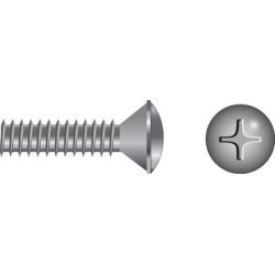 Seachoice Phillips Machine Screw - Oval Head 12-24X1 1/4 PHL OVL M/S SS 50/ found on Bargain Bro Philippines from iboats for $11.99