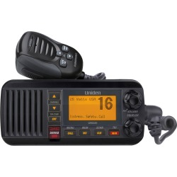 Uniden UM435 Fixed Mount VHF Radio - Black found on Bargain Bro India from iboats for $132.99