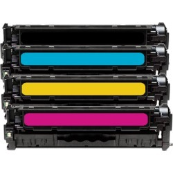 Compatible HP 125A CB540A Toner Cartridge Multipack BK/C/M/Y 4 Toners found on Bargain Bro UK from internet ink