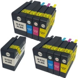 Compatible HP 932XL/933XL Ink Cartridge TWIN Multipack + Free Black - 9 Inks found on Bargain Bro UK from internet ink