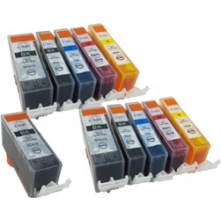 Compatible Canon CLI-521 PGI-520 Ink TWIN PACK + Free PGI-520 Black - 11 Inks found on Bargain Bro UK from internet ink
