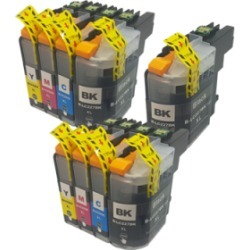 Compatible Brother LC227/LC225XL Ink Cartridge TWIN Multipack + FREE Black Ink - 9 Inks found on Bargain Bro UK from internet ink