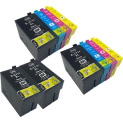 Compatible Epson 27XL (T2711-T2714) Ink TWIN Multipack + 2 Free Black Inks BK/C/M/Y - 10 Inks found on Bargain Bro UK from internet ink