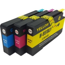 Compatible HP 951XL Ink Cartridge Colour Triple Pack - 3 Inks found on Bargain Bro UK from internet ink
