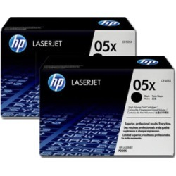 HP 05X CE505XD Original High Capacity Black Toner Cartridge Twin Multipack found on Bargain Bro UK from internet ink
