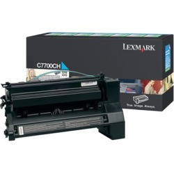 Compatible Lexmark C7700CH Cyan High Capacity Return Toner Cartridge found on Bargain Bro UK from internet ink