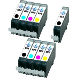 Compatible Canon BCI-6 Colour Pack with BCI-6 Black Ink TWIN PACK with Free Black - 9 Inks found on Bargain Bro UK from internet ink