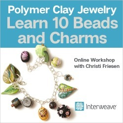 Polymer Clay Jewelry: Learn 10 Beads and Charms Online Workshop with Christi Friesen found on Bargain Bro from Interweave Store for USD $22.79