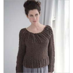 Seed & Lace Pullover Knitting Pattern Download