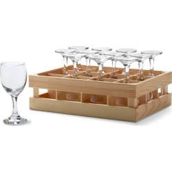 Mini Wine Glasses with Crate Set of 12 #27371
