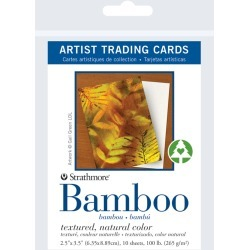 Strathmore Artist Trading Card Pack Bamboo 10 Sheets