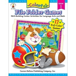 Carson Dellosa Education Colorful File Folder Resource Book, Grade 1