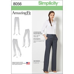 Simplicity Amazing Fit Miss/Plus Size Flared Pants Or Shorts - 10 - 12 - 14 - 16 - 18