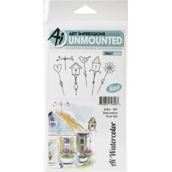Art Impressions Watercolor Cling Rubber Stamps Decorative Post found on Bargain Bro Philippines from JOANN Stores for $11.89