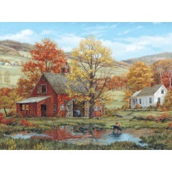 White Mountain Puzzles - 1000 piece Jigsaw Puzzle Fred Swan - Friends In Autumn - Games & Puzzles - At JOANN Fabrics & Crafts found on Bargain Bro India from JOANN Stores for $21.99