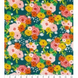 Super Snuggle Flannel Fabric Girl Power Floral