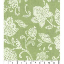 Waverly Upholstery Decor Fabric Stencil Vine Celery