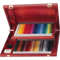 STABILO Carbothello Pastel Pencil Set in Wood Box
