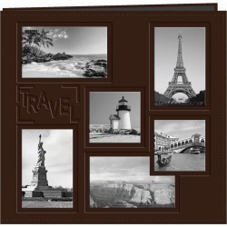Pioneer Collage Frame Sewn Embossed Cover Postbound Album 12