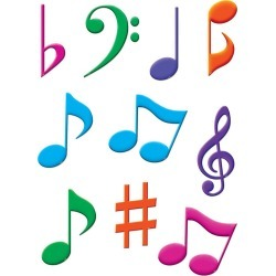 Musical Notes Accents 30 pk, Set Of 6 Packs