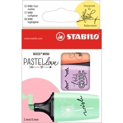 STABILO BOSS Mini Pastellove Highlighter Sets, 3 - Color Set