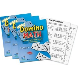 WCA Games That Teach! More Domino Math Resource Book, Pack of 3