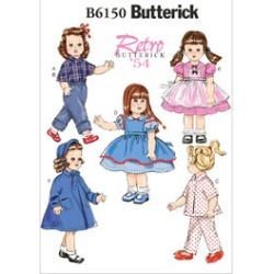 Butterick Crafts Doll Clothes - B6150