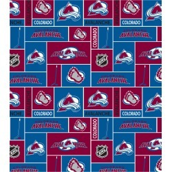 Colorado Avalanche Fleece Fabric Block - 2 Yrds Min found on Bargain Bro Philippines from JOANN Stores for $8.99