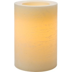 "Flameless Vanilla Scented LED Rustic Pillar Candle 4""x6"" Cream"
