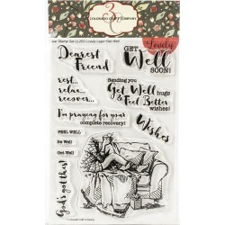"Colorado Craft Company Clear Stamps 4""X6"" Get Well"