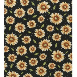 Premium Cotton Fabric Sunflowers with Dots found on Bargain Bro Philippines from JOANN Stores for $16.78
