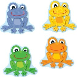 Funky Frogs Cut Outs 36 pk, Set Of 6 Packs