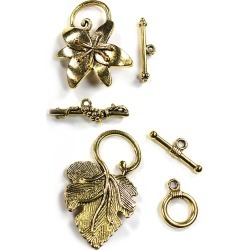 Blue Moon Beads - Findings Clasp Metal Multi Pack Toggle Flower Antique Gold - Jewelry Findings - At JOANN Fabrics & Crafts