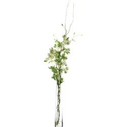 """Rose & Thorn Vines in Glass Vase 60"""" - Faux Artificial Flowers"""