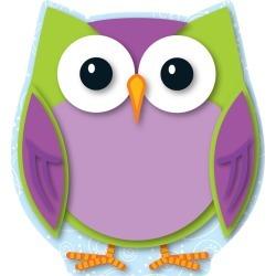 Colorful Owl Mini Cut Outs 36 pk, Set Of 6 Packs