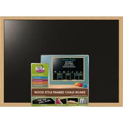 The Board Dudes Wood Style Framed Chalk Board