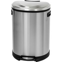 Honey Can Do 50L Step Can Stainless Steel