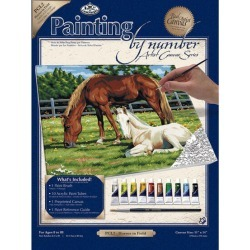 """Royal Langnickel - 11""""x14"""" Paint By Number Kit - Horses In Field - Painting Supplies - At JOANN Fabrics & Crafts"""