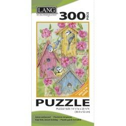 "Jigsaw Puzzle 300 Pieces 14.5""x20.5"" Bird Houses"