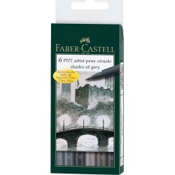 Faber-Castell - Pitt Brush Pen (6) Grays/Card - Scrapbook Supplies - At JOANN Fabrics & Crafts found on Bargain Bro from JOANN Stores for USD $15.19