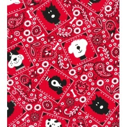 Novelty Cotton Fabric Dog Bandana Red - 2 Yrds Min found on Bargain Bro Philippines from JOANN Stores for $7.49